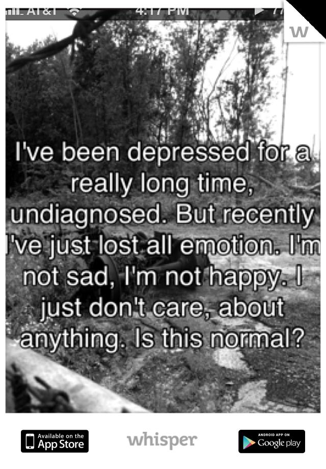is being depressed the same as feeling numb?