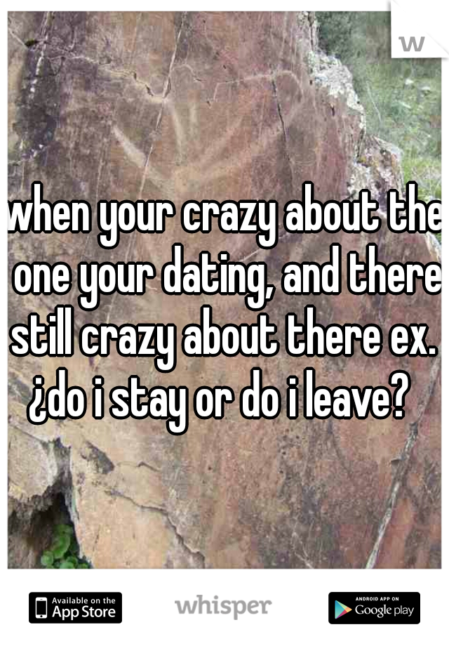 when your crazy about the one your dating, and there still crazy about there ex.  ¿do i stay or do i leave?