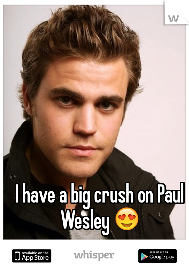 I have a big crush on Paul Wesley 😍