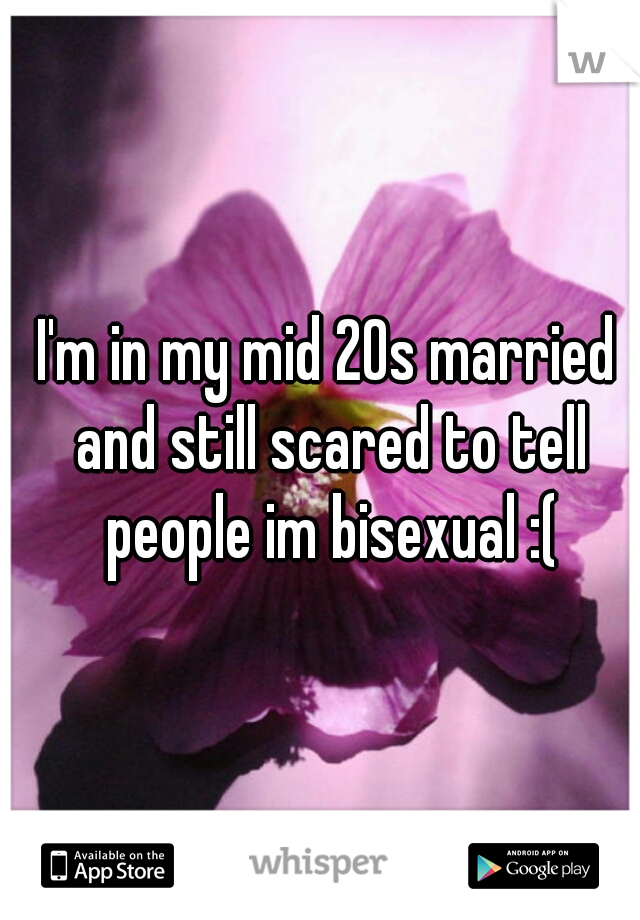 I'm in my mid 20s married and still scared to tell people im bisexual :(