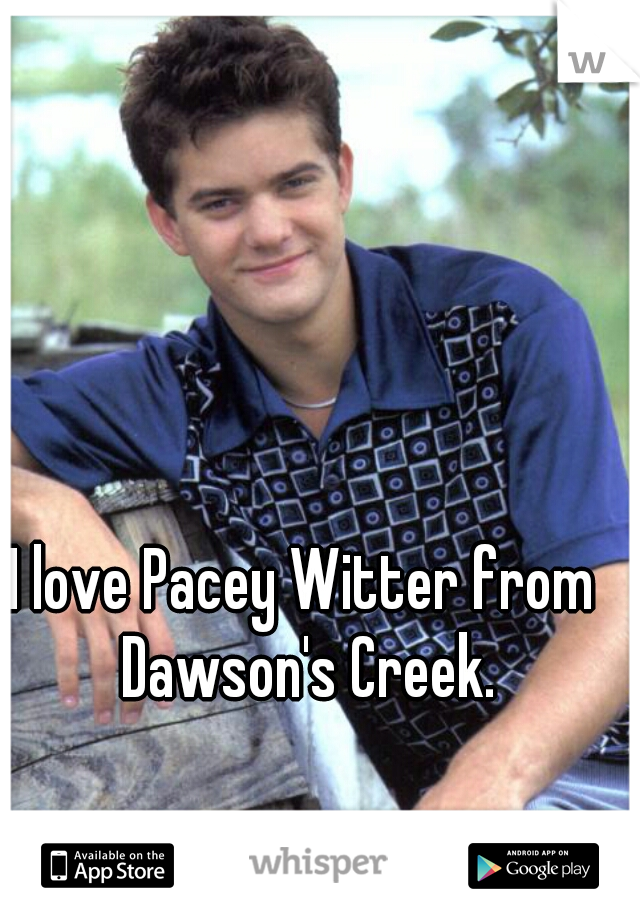 I love Pacey Witter from Dawson's Creek.