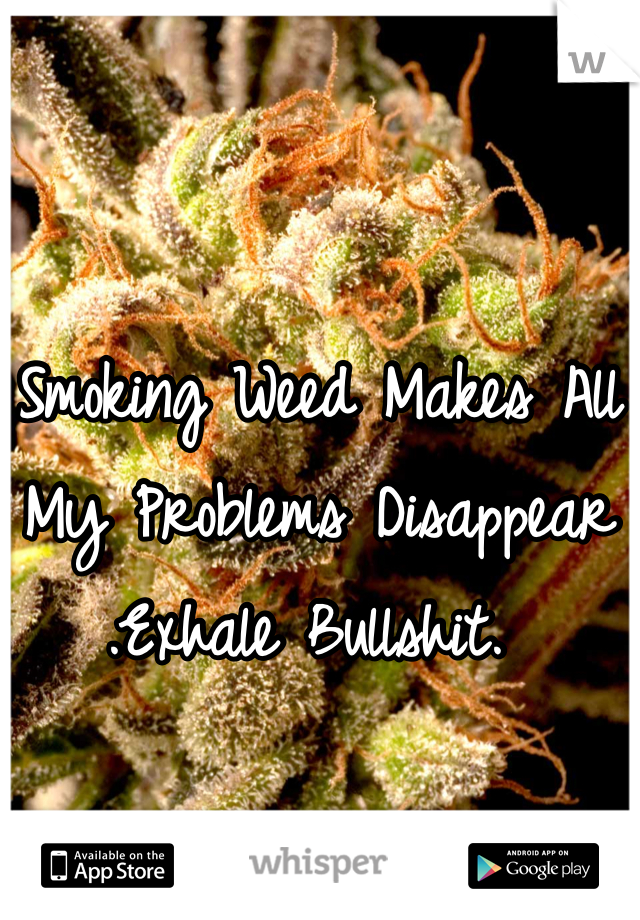 Smoking Weed Makes All My Problems Disappear .Exhale Bullshit.