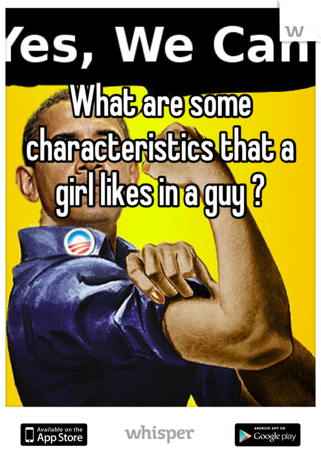 What are some characteristics that a girl likes in a guy ?