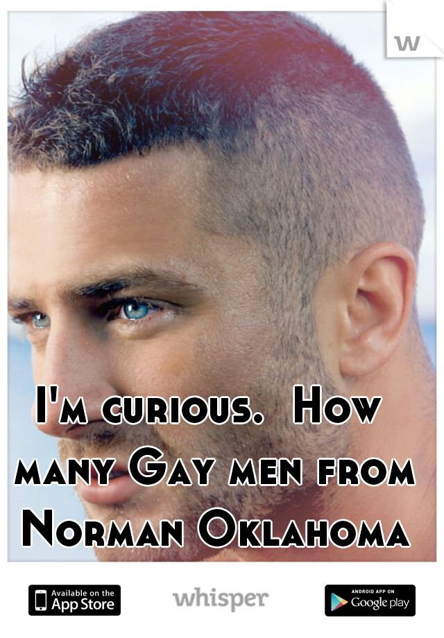 I'm curious.  How many Gay men from Norman Oklahoma use this app.