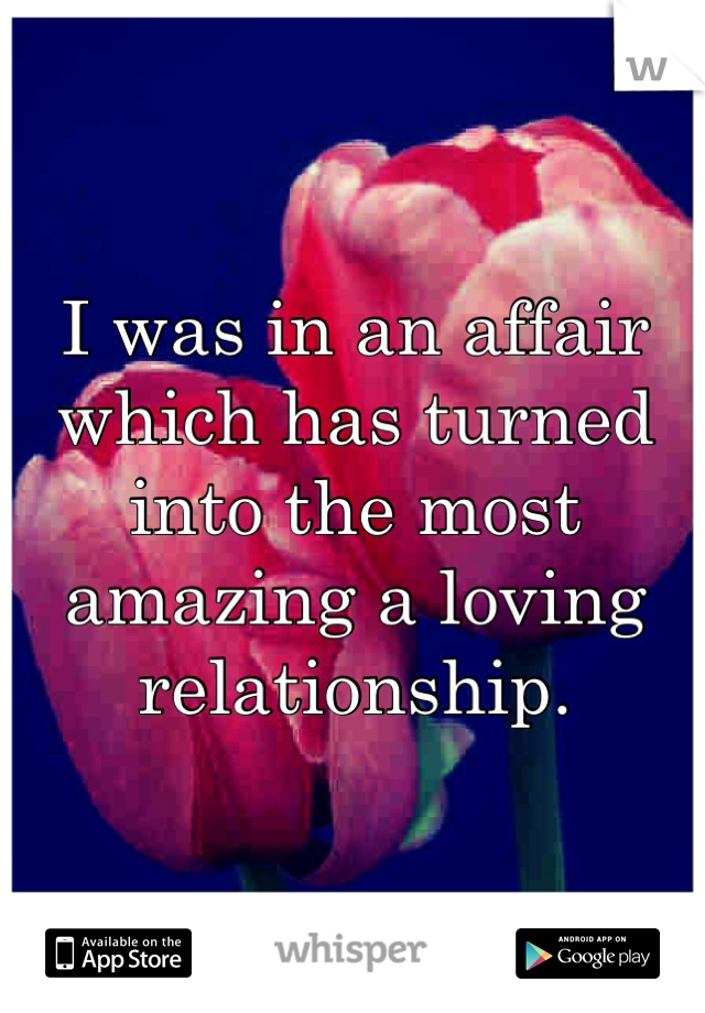 I was in an affair which has turned into the most amazing a loving relationship.