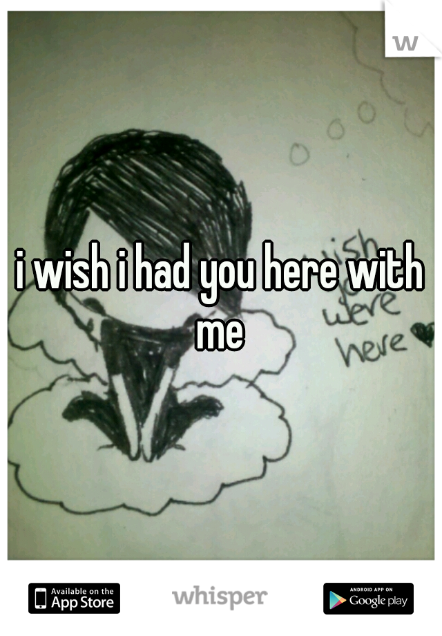 i wish i had you here with me