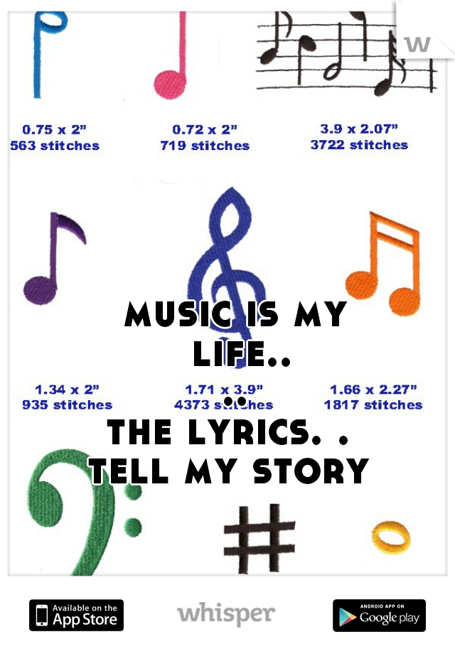 music is my life.... the lyrics. .  tell my story