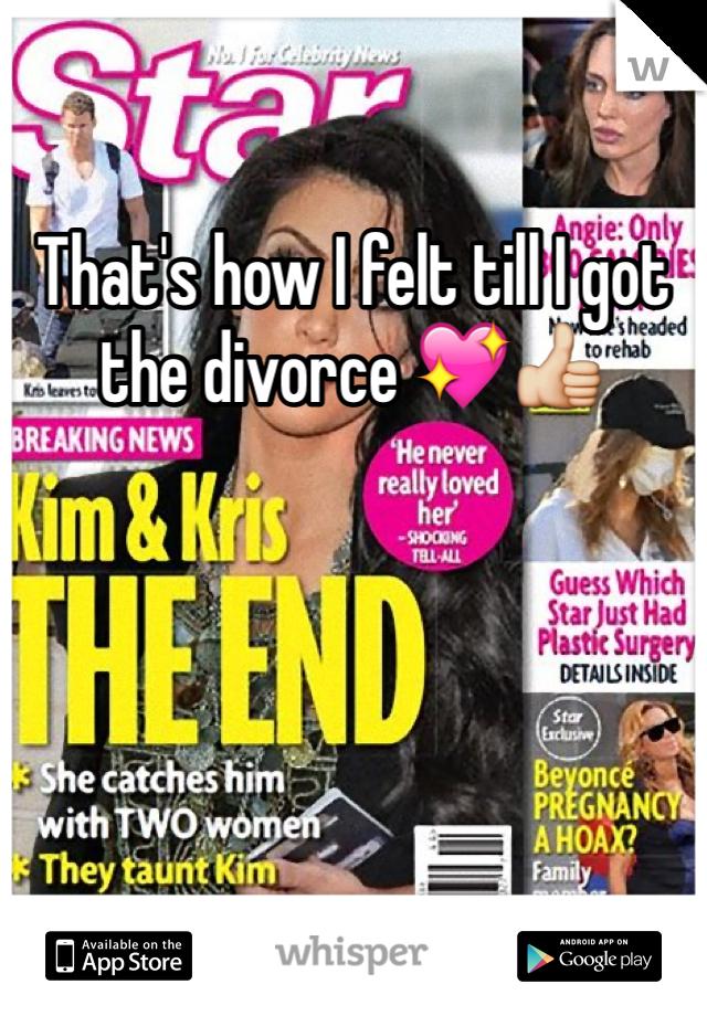 That's how I felt till I got the divorce 💖👍