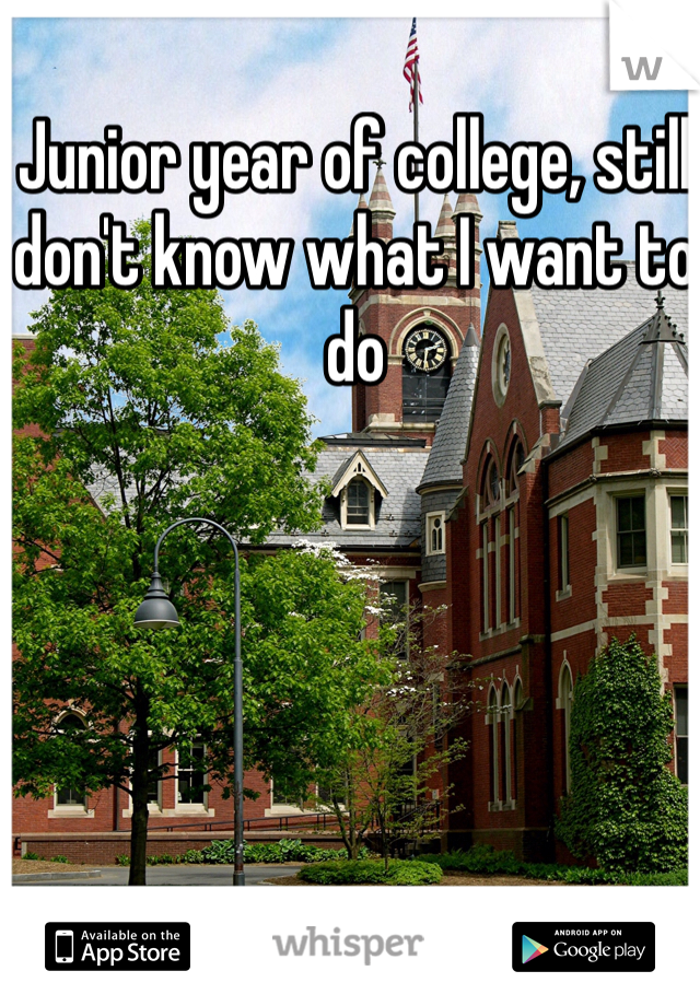Junior year of college, still don't know what I want to do