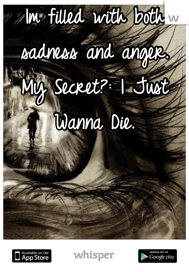 Im filled with both sadness and anger.  My Secret?: I Just Wanna Die.