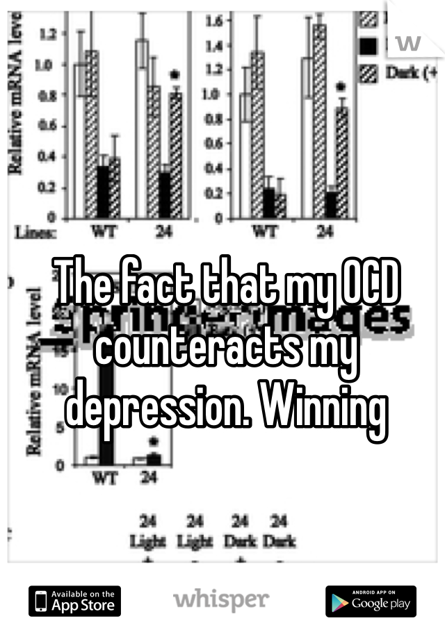 The fact that my OCD counteracts my depression. Winning