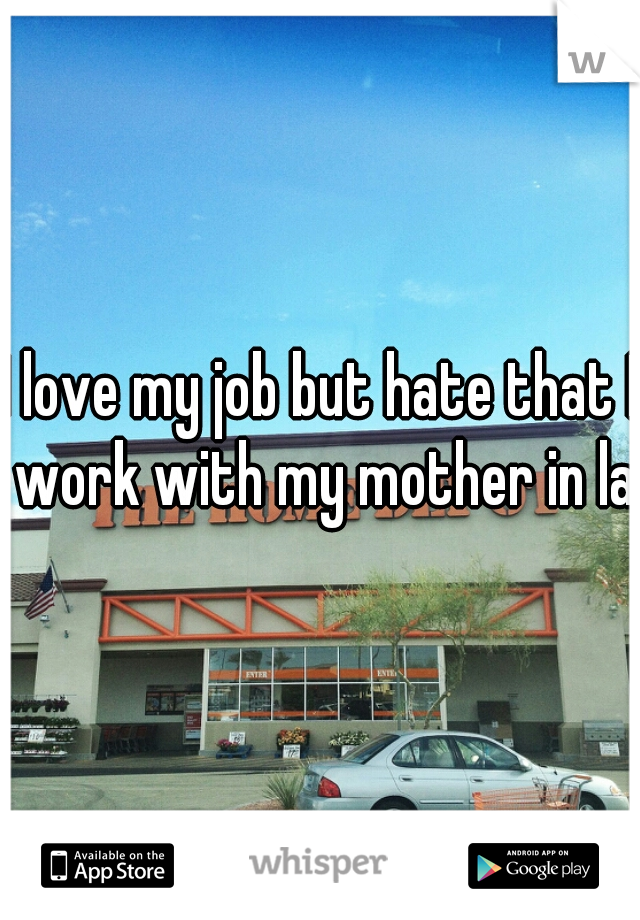 I love my job but hate that I work with my mother in law