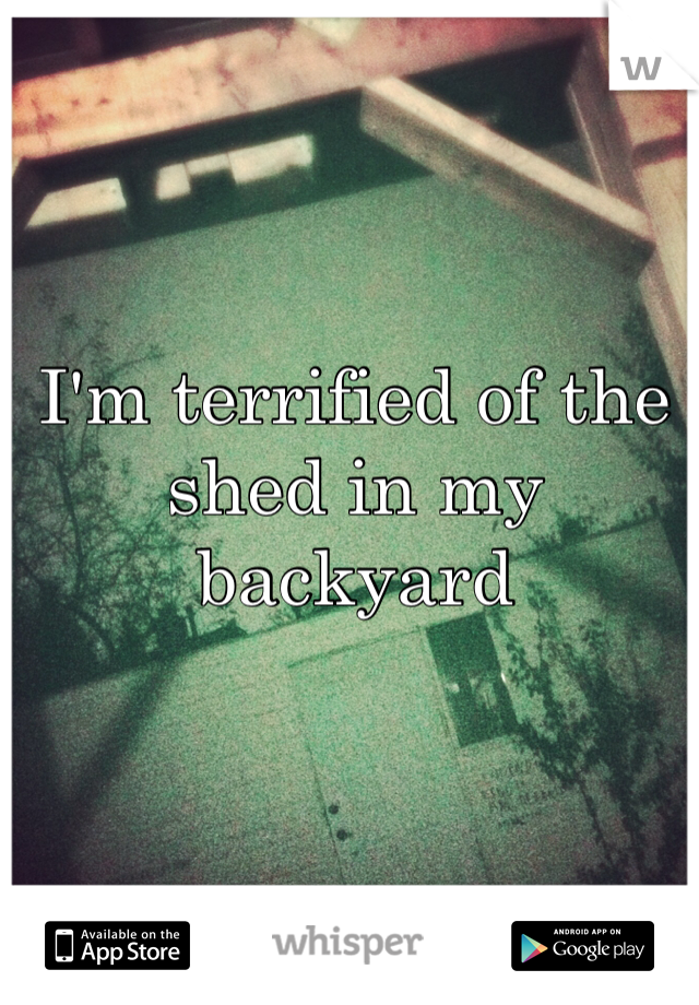 I'm terrified of the shed in my backyard
