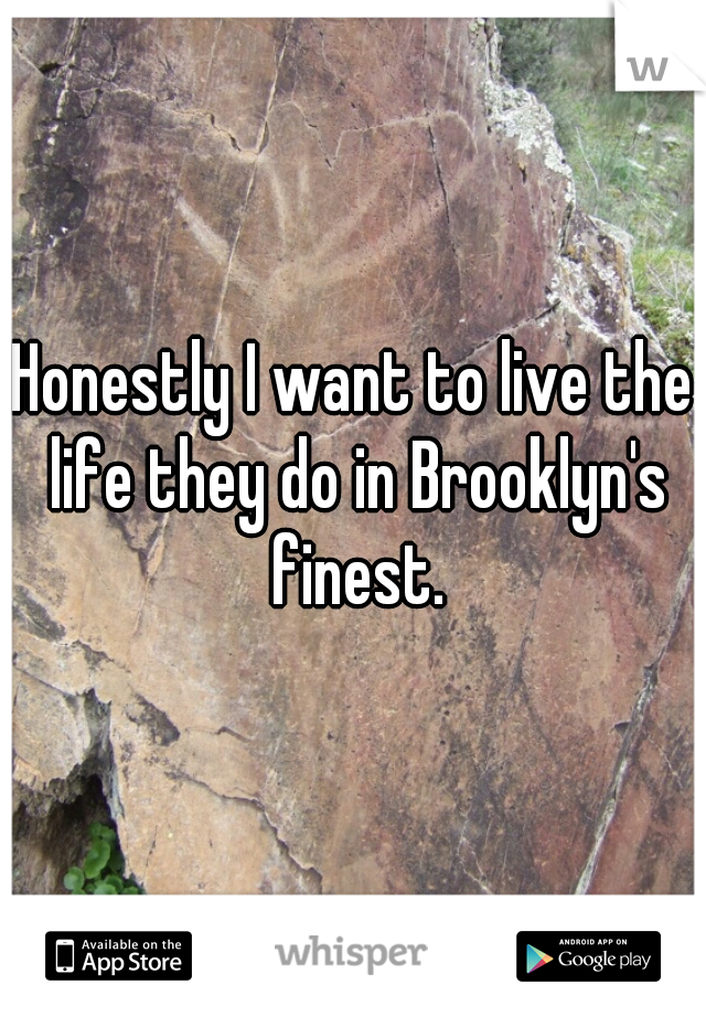 Honestly I want to live the life they do in Brooklyn's finest.