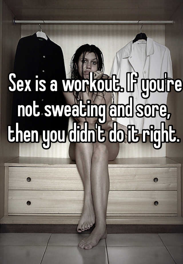 How to not sweat during sex