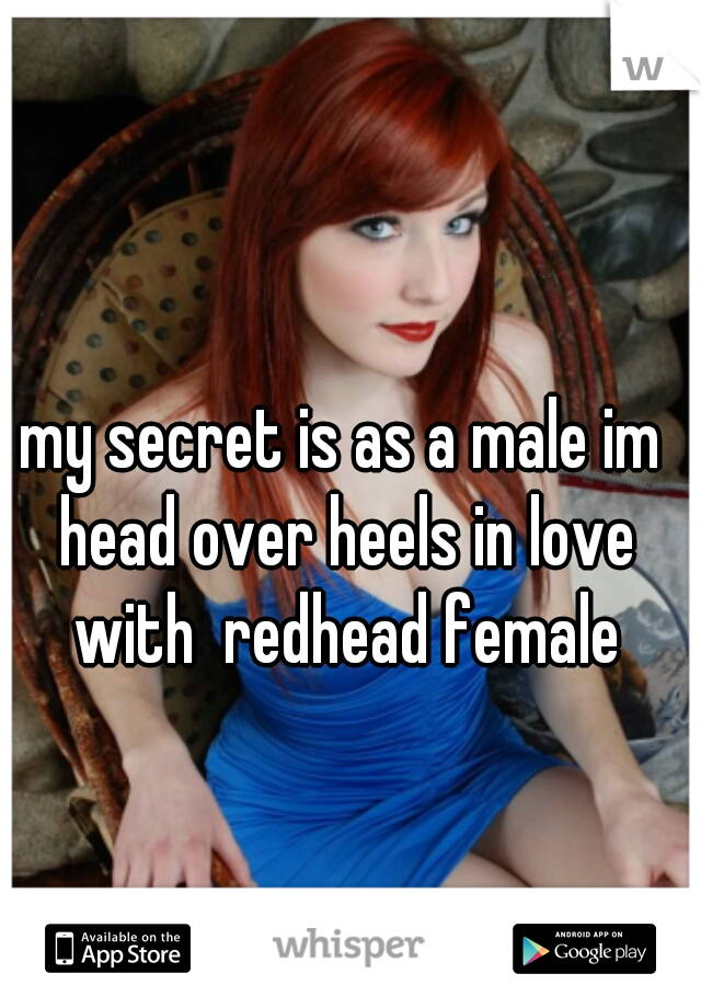 my secret is as a male im head over heels in love with  redhead female