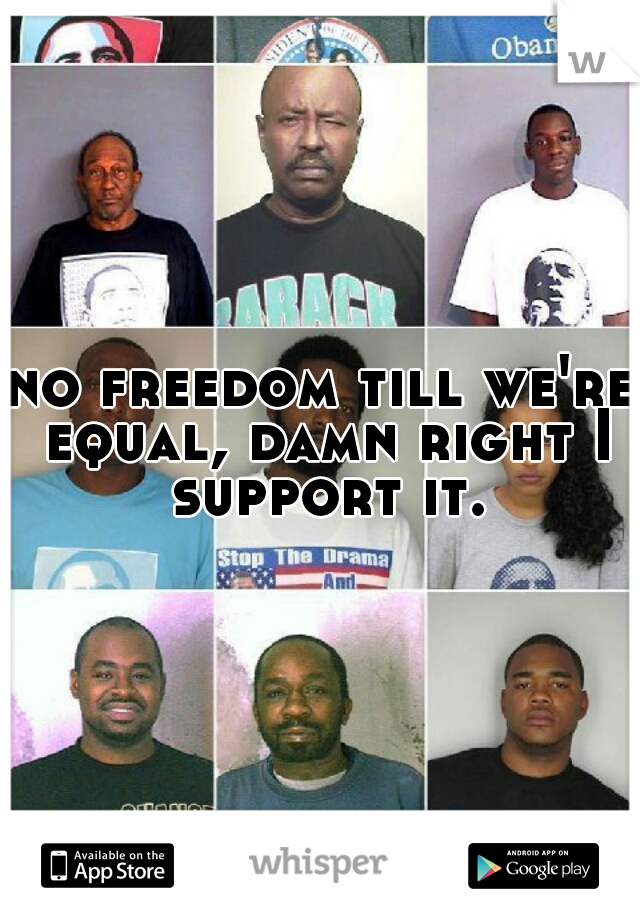 no freedom till we're equal, damn right I support it.