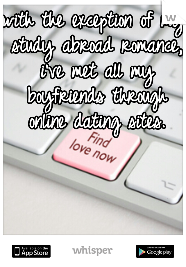 with the exception of my study abroad romance, i've met all my boyfriends through online dating sites.