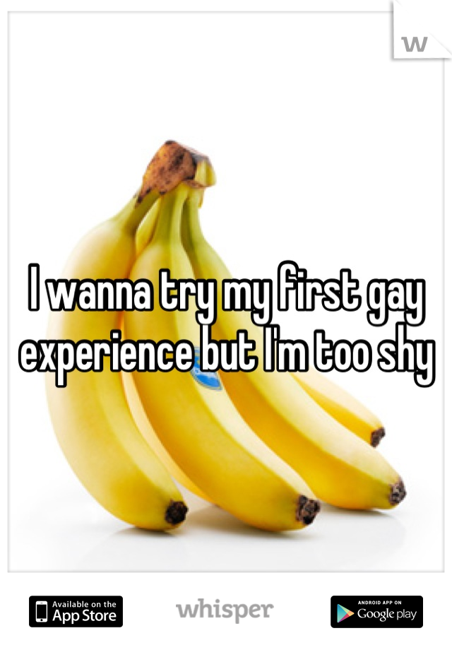 I wanna try my first gay experience but I'm too shy