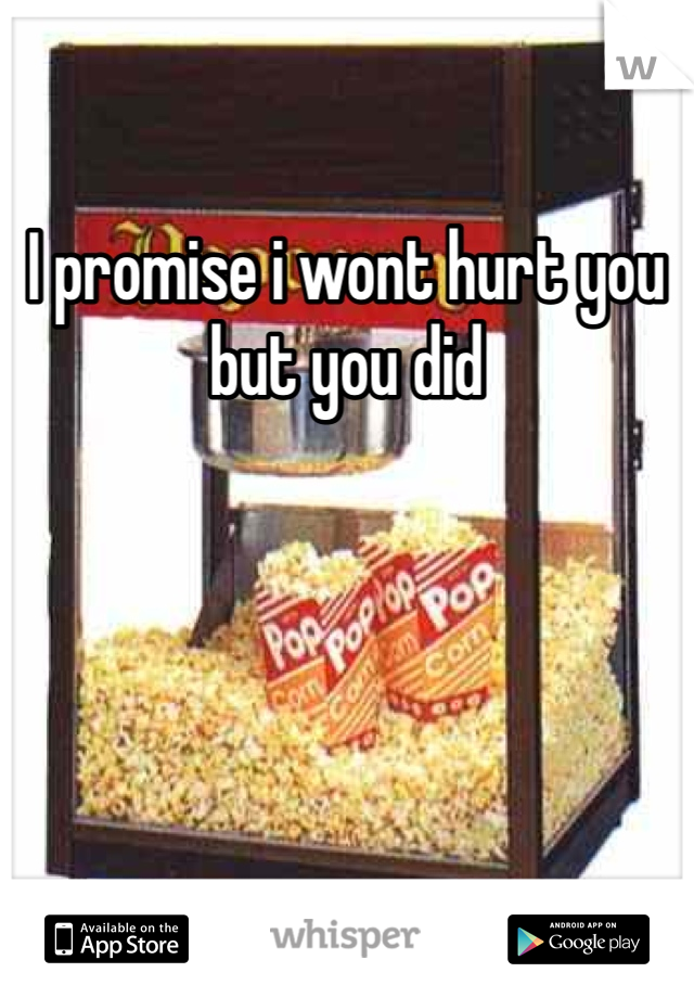 I promise i wont hurt you but you did