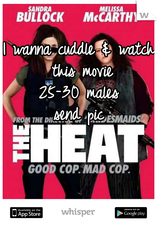 I wanna cuddle & watch this movie  25-30 males  send pic