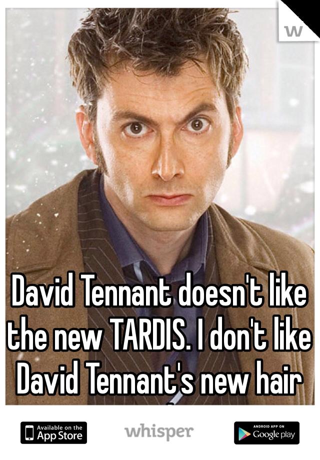 David Tennant doesn't like the new TARDIS. I don't like David Tennant's new hair style.