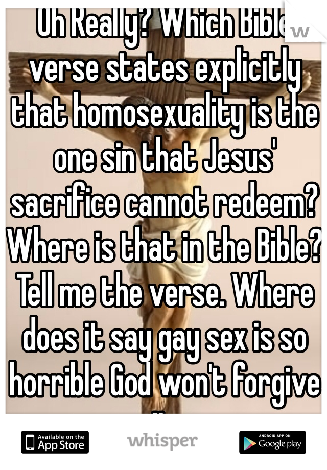 Gay bible verse