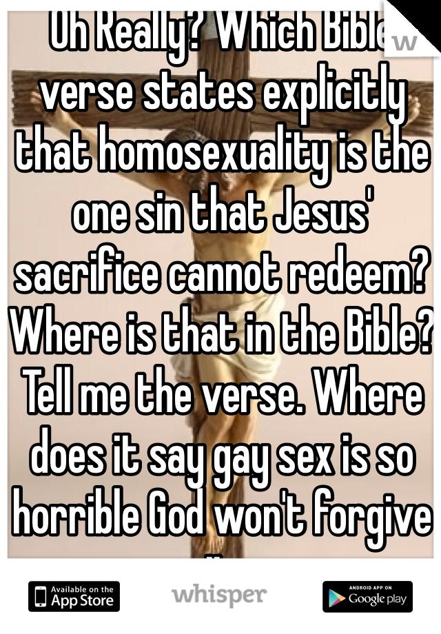 does god forgive gays