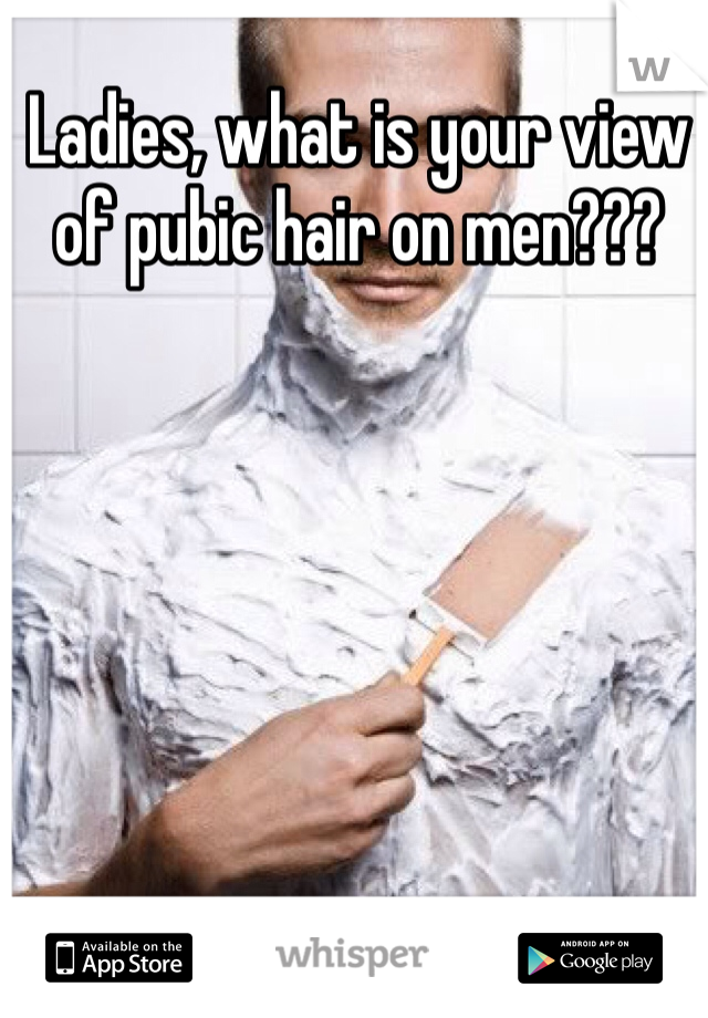 Ladies, what is your view of pubic hair on men???