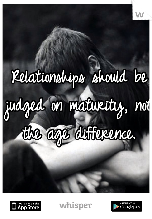 Relationships and age difference