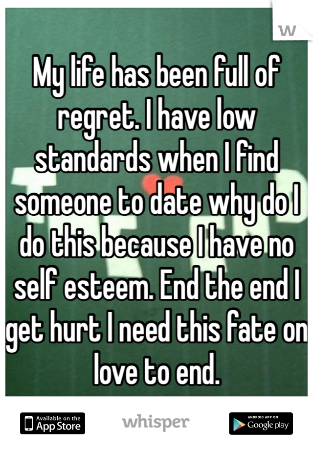 Low standards in dating site
