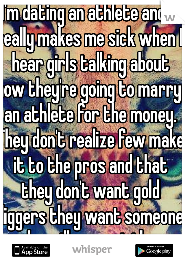 When dating an athlete