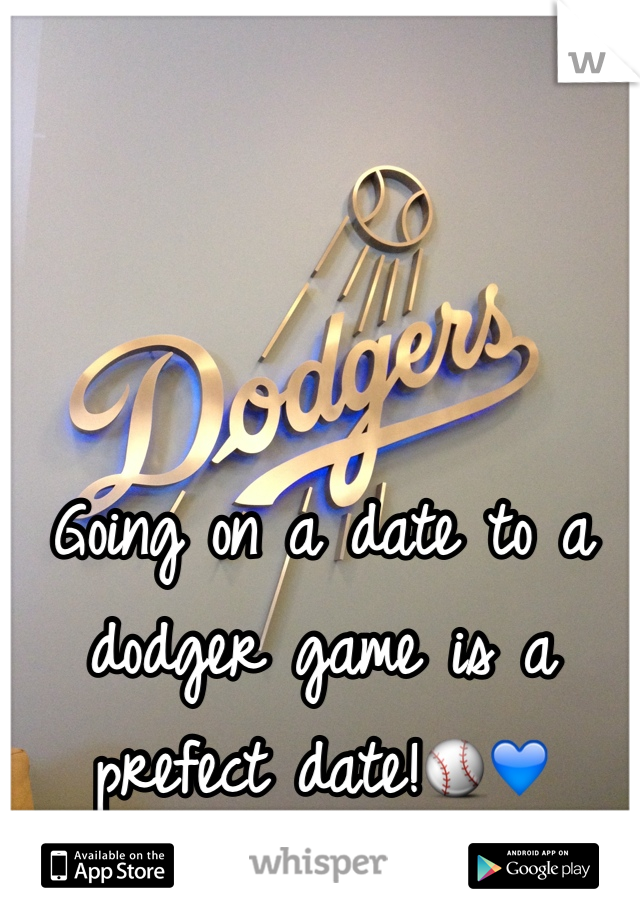 Going on a date to a dodger game is a prefect date!⚾️💙