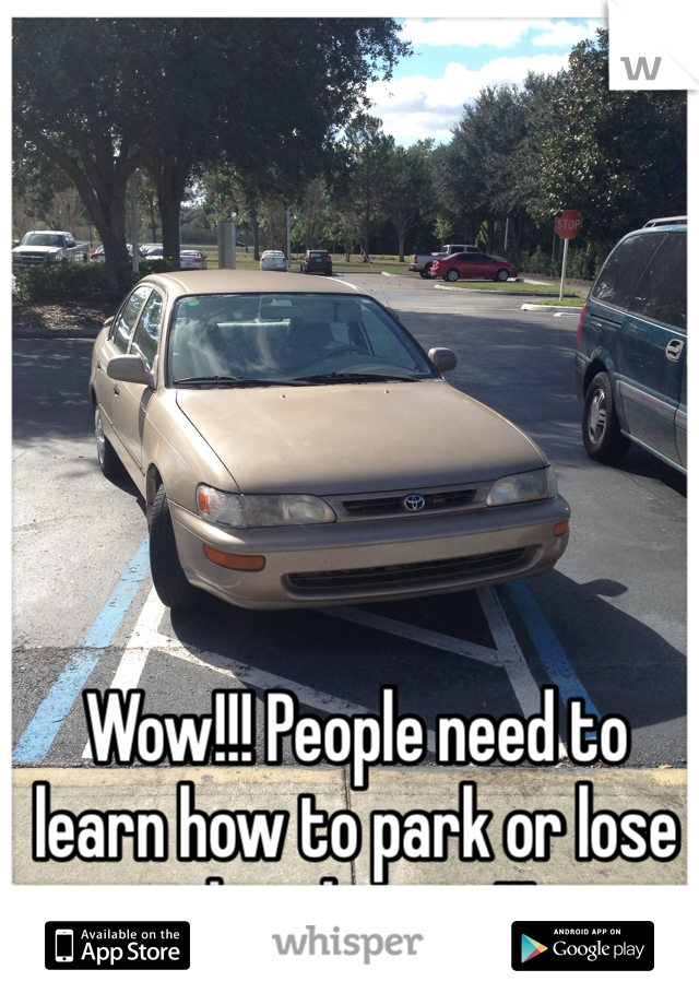 Wow!!! People need to learn how to park or lose their license!!!