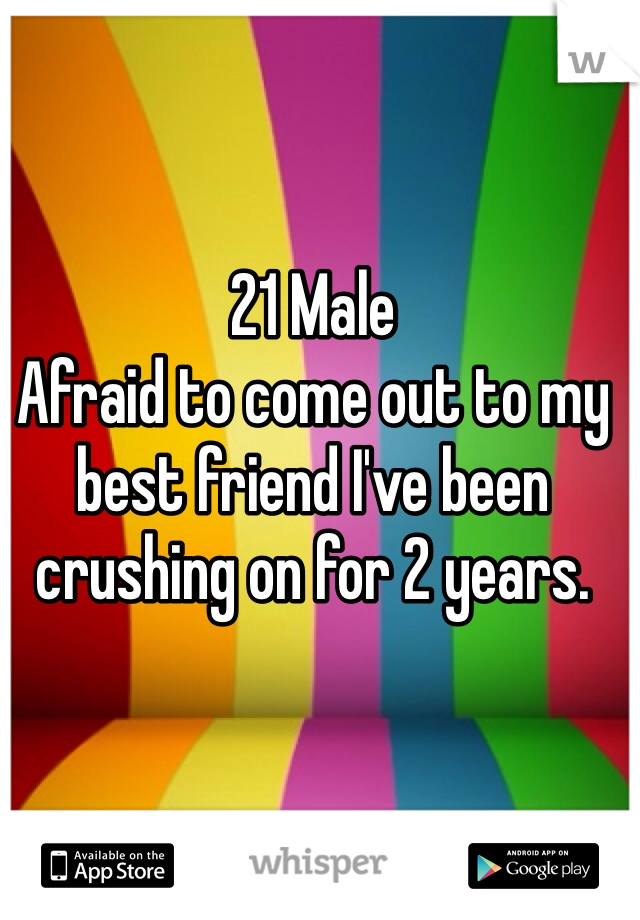 21 Male Afraid to come out to my best friend I've been crushing on for 2 years.