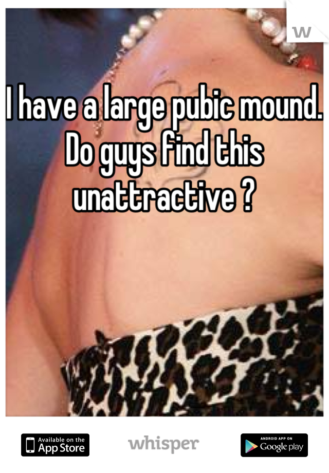 What is pubic mound