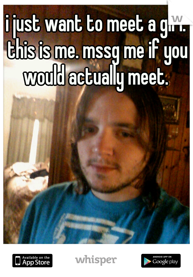 i just want to meet a girl. this is me. mssg me if you would actually meet.