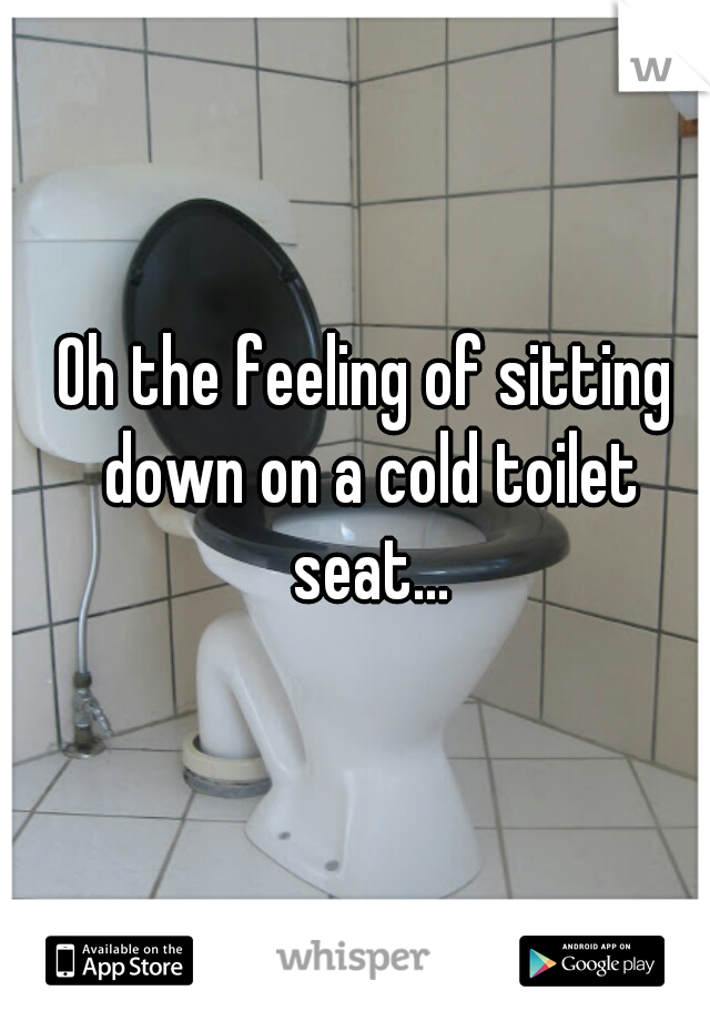 Oh the feeling of sitting down on a cold toilet seat...