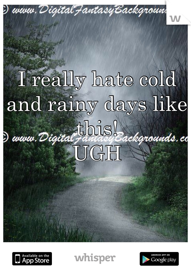 I really hate cold and rainy days like this! UGH