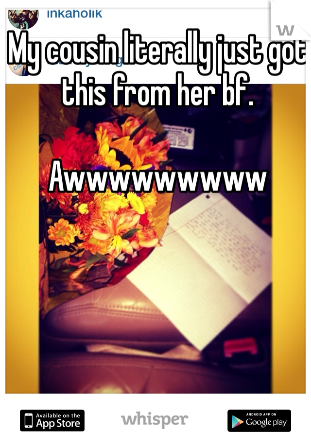 My cousin literally just got this from her bf.  Awwwwwwwww