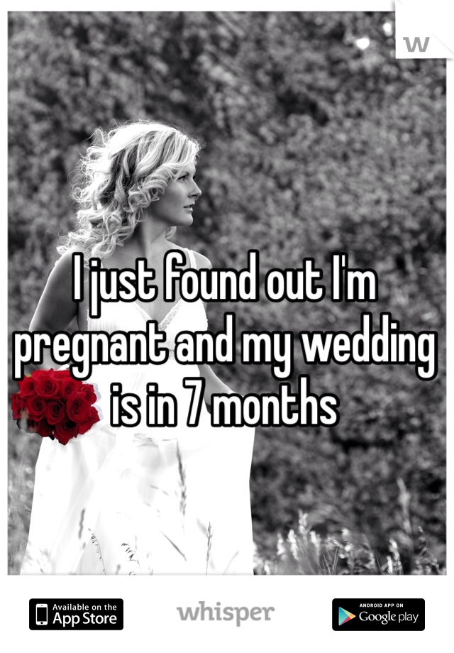 I just found out I'm pregnant and my wedding is in 7 months