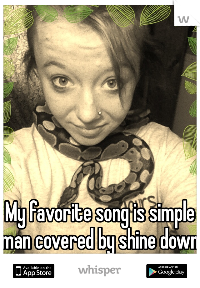 My favorite song is simple man covered by shine down