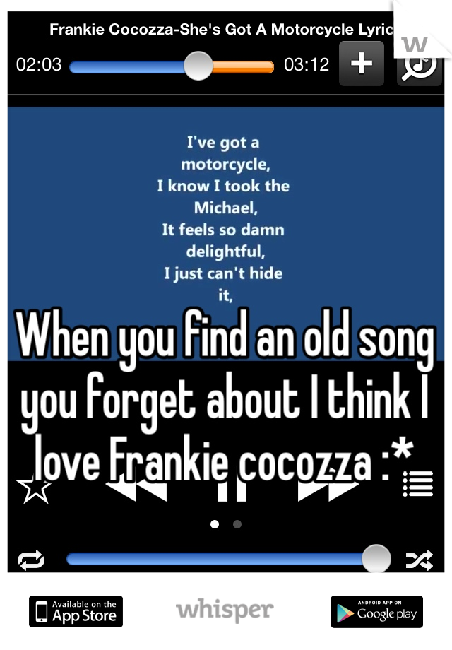 When you find an old song you forget about I think I love Frankie cocozza :*