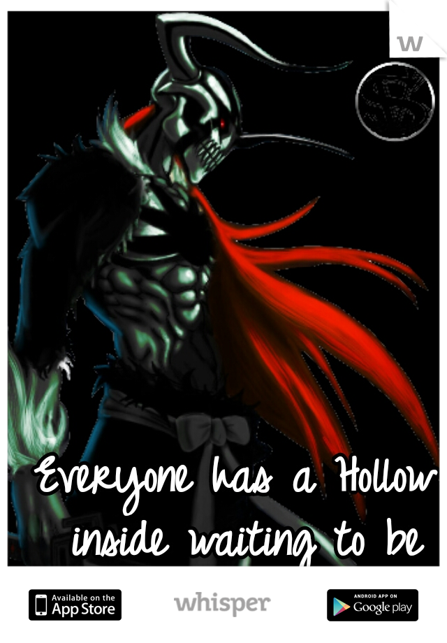 Everyone has a Hollow inside waiting to be released...
