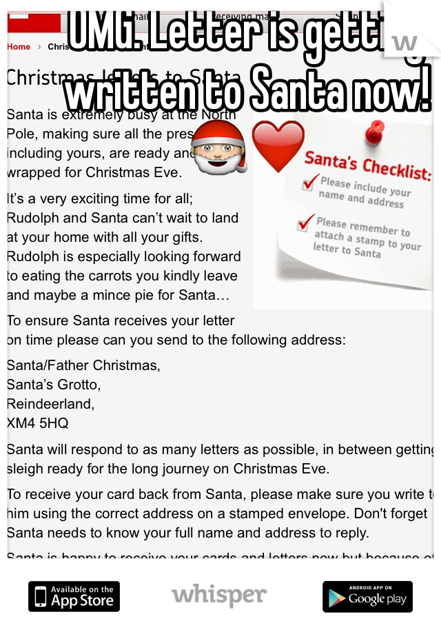 OMG. Letter is getting written to Santa now! 🎅❤️