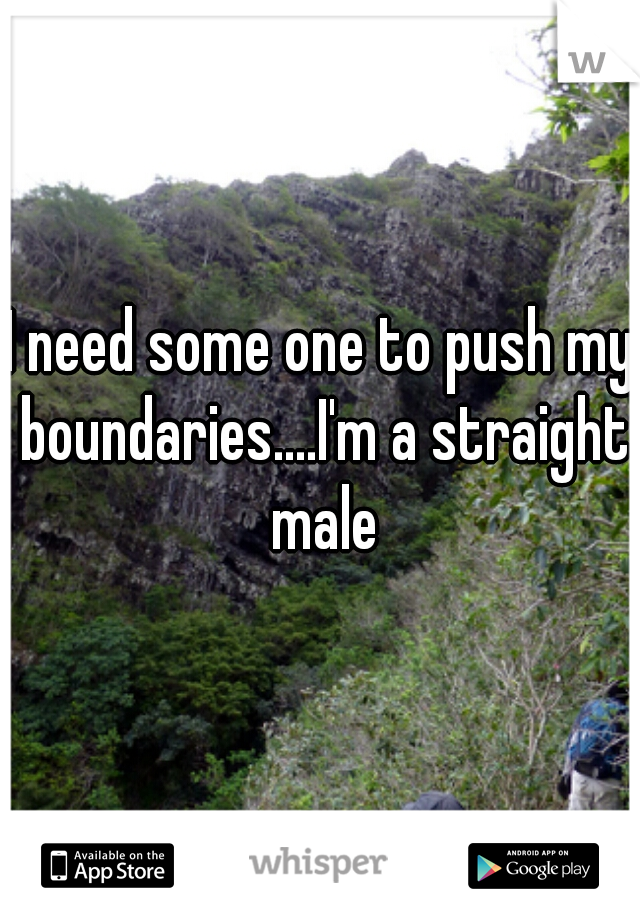 I need some one to push my boundaries....I'm a straight male