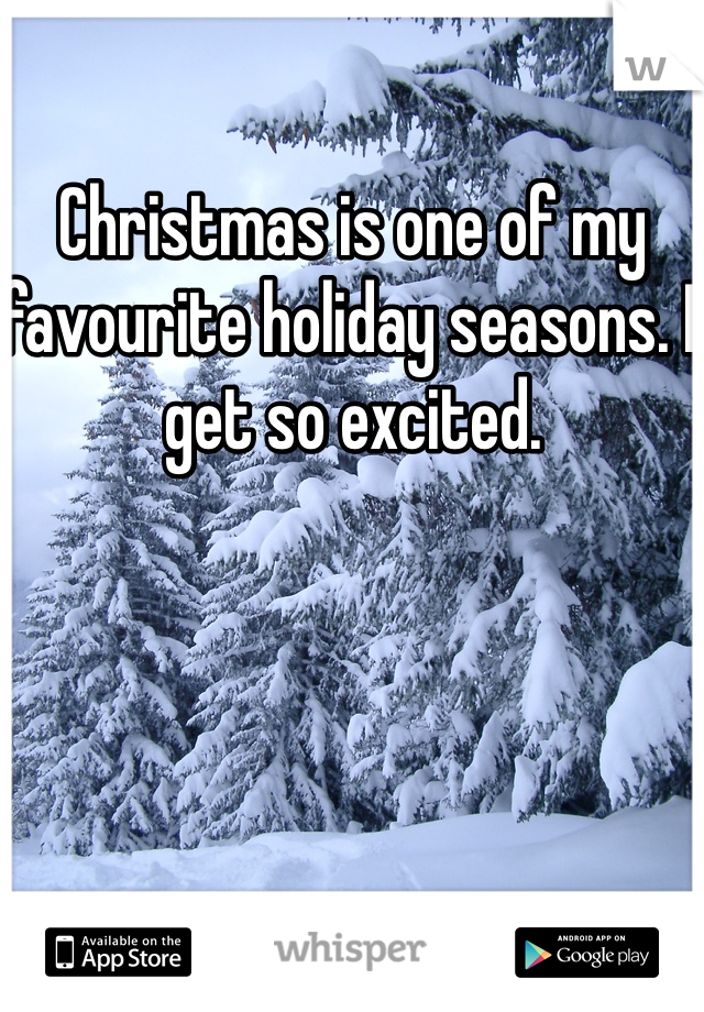 Christmas is one of my favourite holiday seasons. I get so excited.