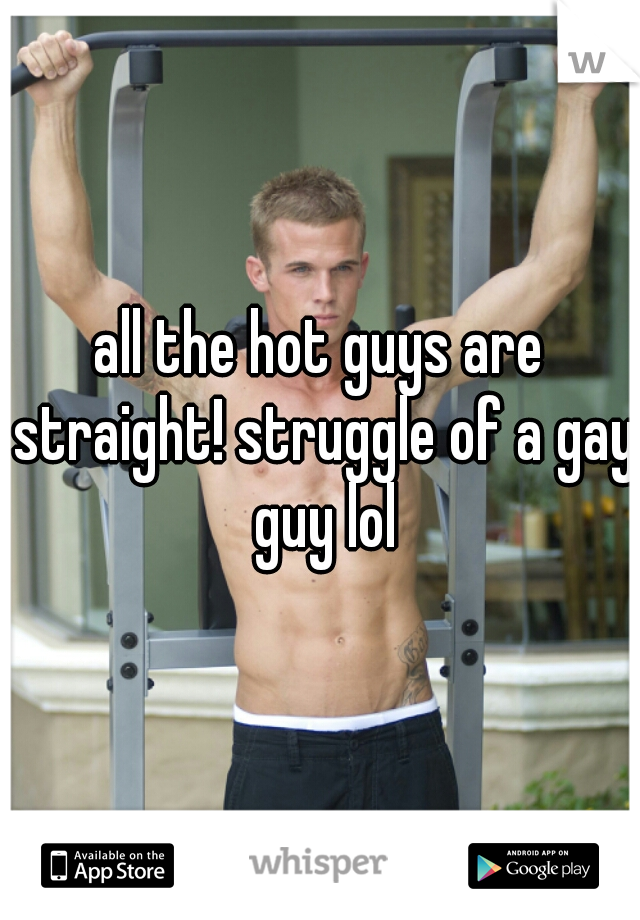 all the hot guys are straight! struggle of a gay guy lol