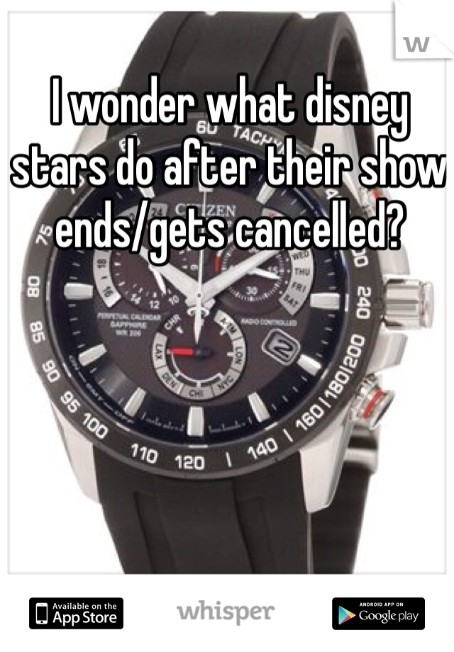 I wonder what disney stars do after their show ends/gets cancelled?