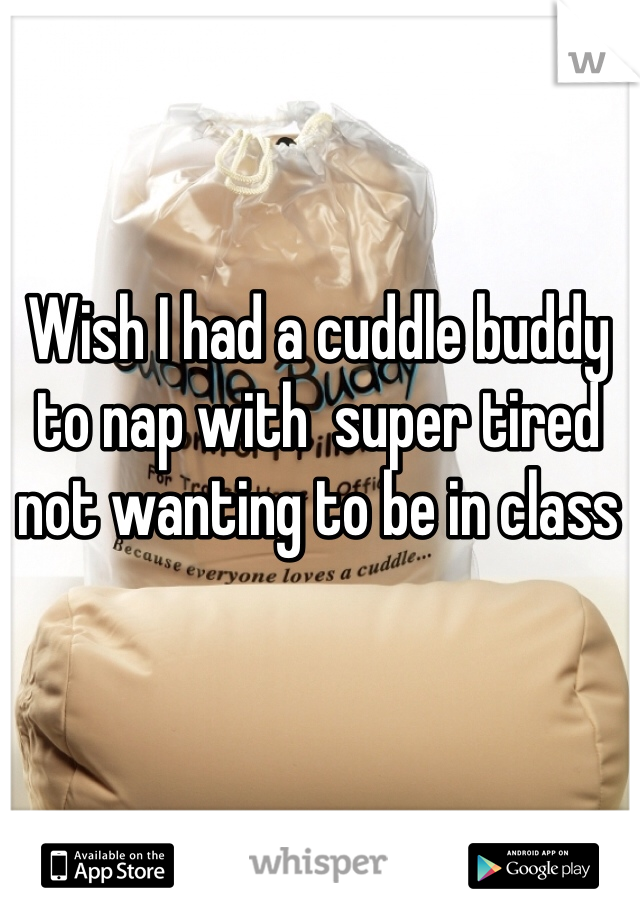 Wish I had a cuddle buddy to nap with  super tired not wanting to be in class